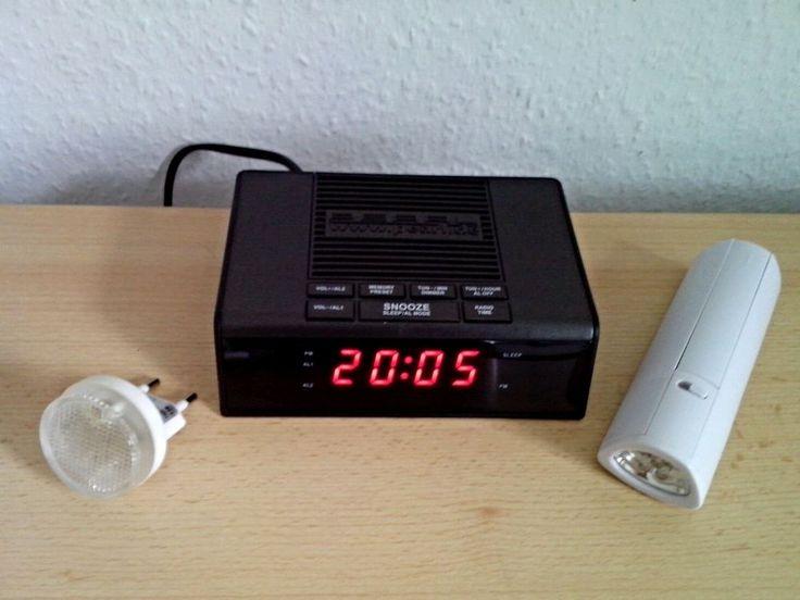 Radiowecker - 2 in 1 LED Lampe - Nachtlicht - 3 Teile