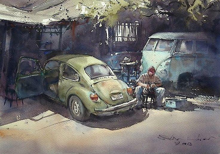Direk Kingnok Watercolor artist