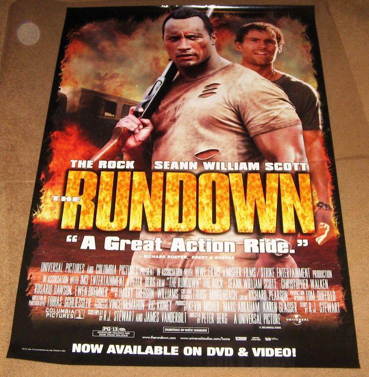 The Rundown Movie Poster 27x40 Used Arnold Schwarzenegger, Dwayne Johnson, Ernie Reyes Jr, Rosario Dawson, Sven-Ole Thorsen, Brandon Molale, Ewen Bremner, Garrett Warren, William Lucking, Jamal Duff, Dave Schuetz