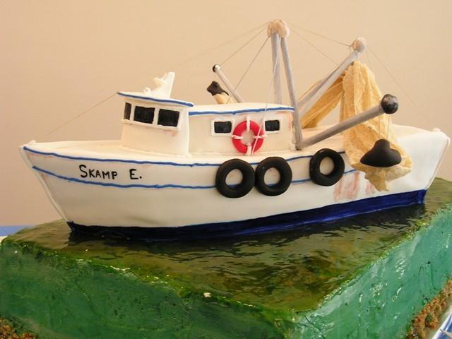 Best Fishing Cakes Images On Pinterest Fishing Cakes - Fishing boat birthday cake