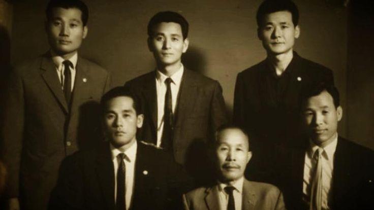 MASTERS OF HAPKIDO (From Left): Yong Jin Kim (Founder of Euljikwan), Grandmaster Chong Sung Kim (Founder of Jang Mu Won Hapkido), Bong Soo Han (Founder of International Hapkido Federation), Yong Sul Choi (Founder of Hapkido), Grandmaster Jongho Yum, Younghwan Kim