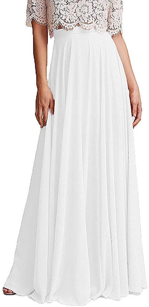 Omelas Women Long Floor Length Chiffon High Waist Skirt ...