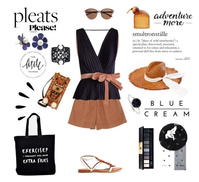 """""""Pleats Please!"""" by taci42 ❤ liked on Polyvore featuring Roksanda, Michael Stars, Malone Souliers, Witchery, MCM, iittala, 1928, Monday, Kenzo and Yves Saint Laurent"""