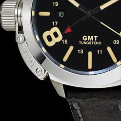 CLASSICO GMT, 45mm stainless steel with satin finish case. U-2893 GMT automatic mechanical movement, personalized to U-BOAT specifications.
