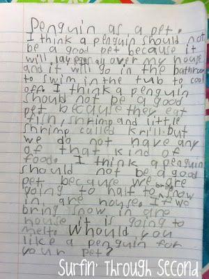Surfin' Through Second: Penguins, Penguins, Penguins зацените почерк во втором классе