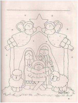 Nativity coloring page #CatholicSAM