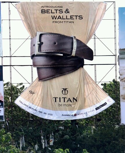 Titan India Belts & Wallets ! OOH Advertising