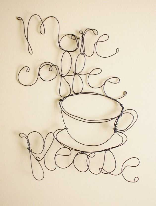 33 Amazing Diy Wire Art Ideas - After you click on the picture, just wait for 25 seconds or so for downloading to finish in order to see more examples.   You don't need to be an artist.  Tools are just gloves, pliers, and wire cutters.  Use copper or brass wire.   Check out wire art tutorials on Pinterest search.