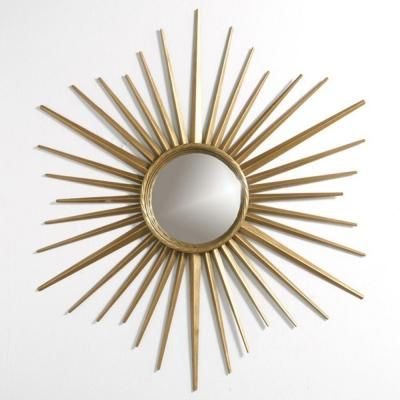 Martha Stewart Living Wales 30 in. x 30 in. Metal Antique Gold Framed Mirror-72930 - The Home Depot
