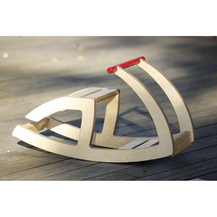 wooden rocker toy by hop & peck