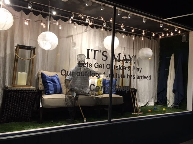 How about a little outdoor fun window display