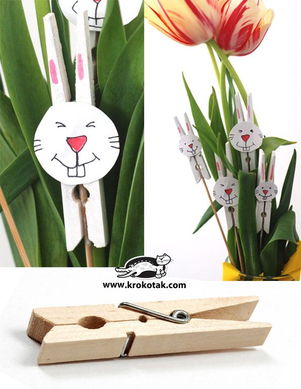 Bunny cloth-pins DIY