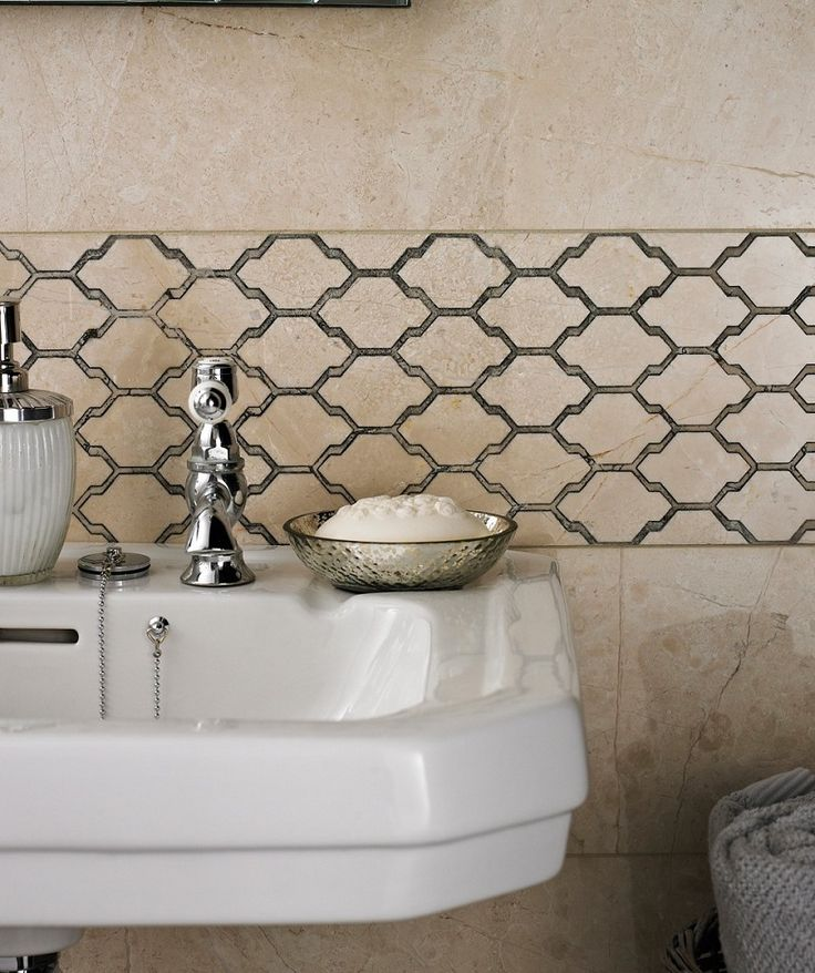 Moorish inspired :) Love this as quite earthy/outdoors tones and popular pattern  Maybe too girly    Sophia Dove™ Honeycomb Grey Tile | Topps Tiles