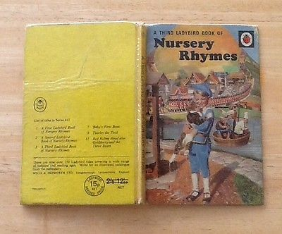 Vintage Ladybird Book - Nursery Rhymes - a third book - 1969 Edition