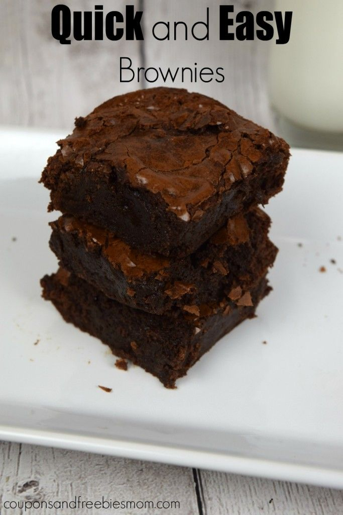 Quick and Easy Brownies! With only 5 ingredients that you probably ...