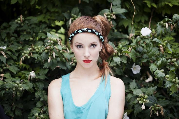 Sofia aqua, jewel braid