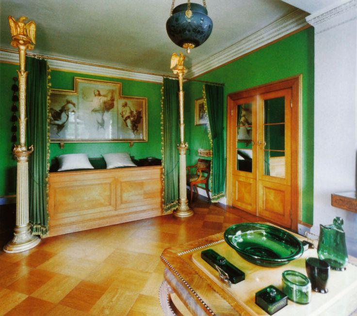 Potsdam, Sanssouci, Schloss Charlottenhof, Schlafzimmer Des  Kronprinzenpaares (Charlottenhof Palace, Crown Priceu0027s