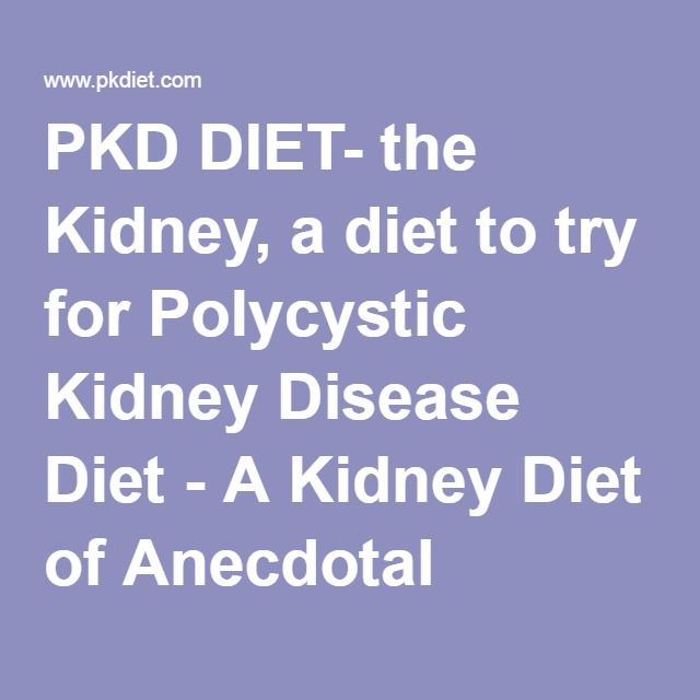 Eating, Diet, & Nutrition for Polycystic Kidney Disease