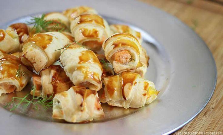 Mini-Croissants apéritif au Saumon frais