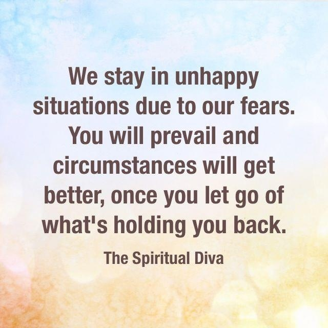 Let go of what's holding you back! | Diva Quotes | Diva quotes