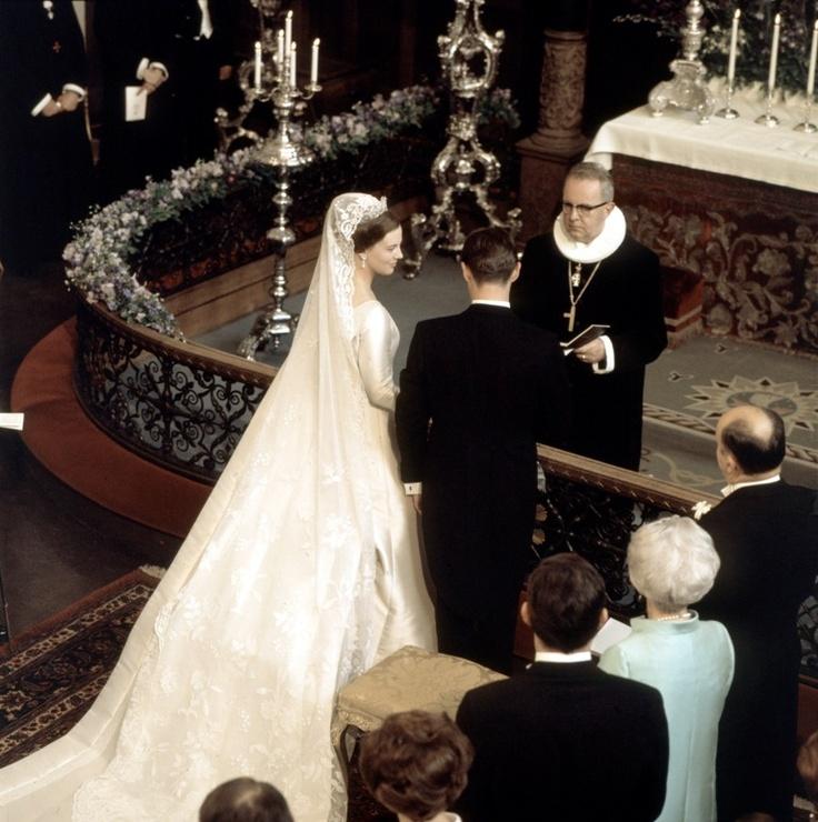Queen Margrethe's wedding to Prince Henrik