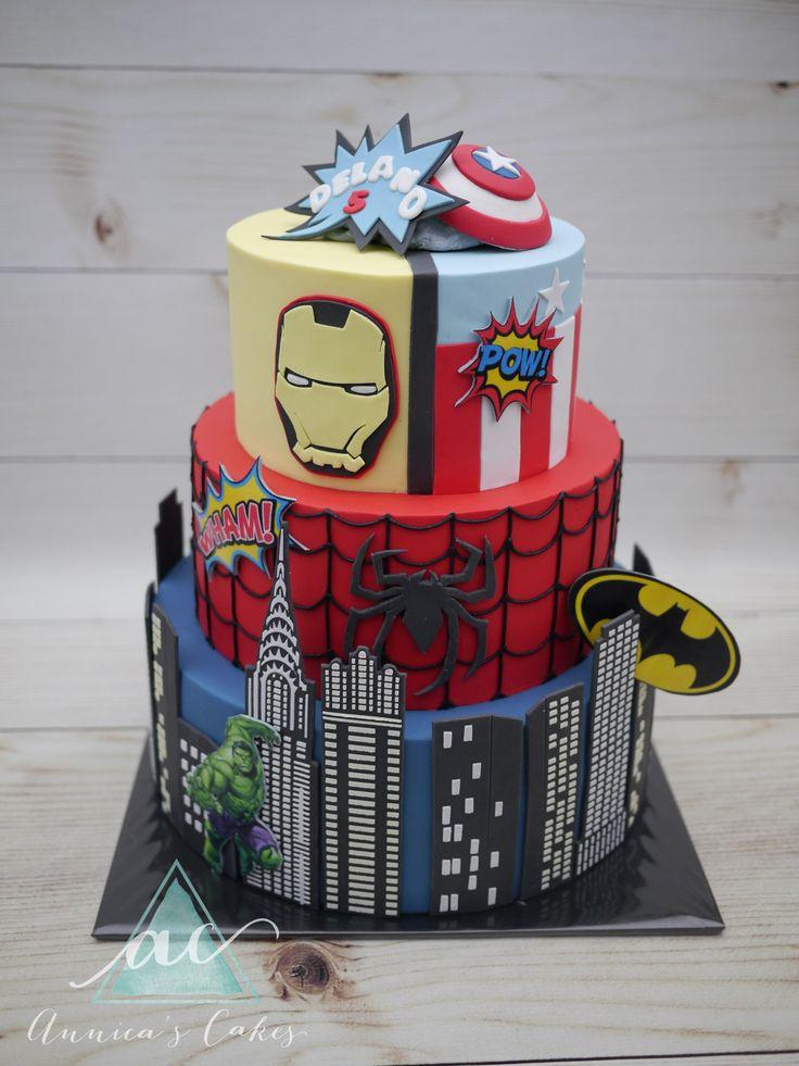 Marvel Cake  Marvel taart groot