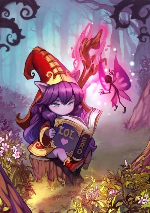 Lulu reading up on LoL