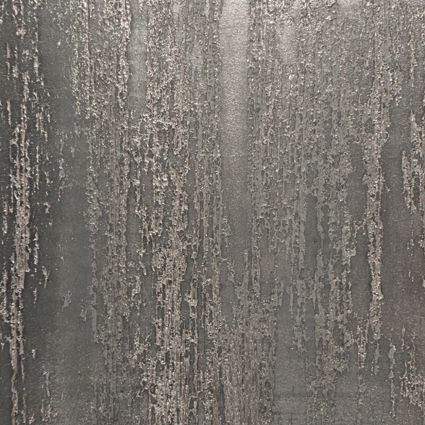 """""""Metallic Ridge"""" Textured Designer Plaster Wall Treatment Seen here in a warm gray and metallic silver, our Ridge series of wall finishes is totally inspired by nature. Color and sheen are customizable."""
