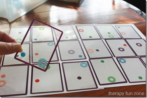 fun card game for visual perception called swish.