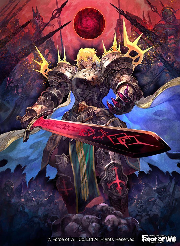 TCG「FORCE OF WILL」七世界の王 にて 「 復讐の屍王 アーサー 」描かせていただきました。どうぞよろしく~! http://fow-tcg.com/