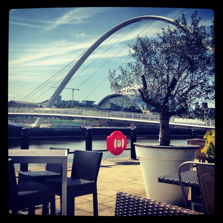 Taken from the Pitcher and Piano beer garden, river Tyne
