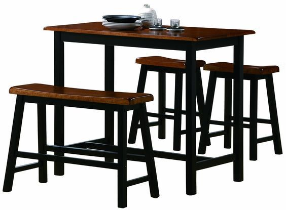 Amazon.com - Crown Mark Tyler 4-Piece Counter Height Table Set - Table & Chair Sets