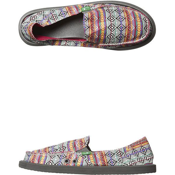 Sanuk Donna Tribal Shoe (8020 ALL) ❤ liked on Polyvore featuring shoes, flats, footwear, pink, womens footwear, sanuk footwear, tribal print shoes, tribal shoes, tribal flats and pink shoes