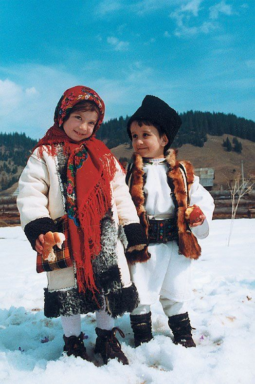Kid's traditional costumes.