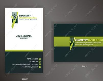 44 best business card design images on pinterest business cards check out new work on my behance portfolio zimmerty environmental business card colourmoves Images