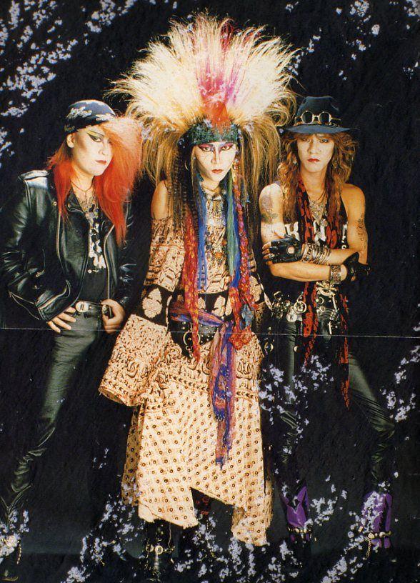 Pata, hide and Taiji. X Japan