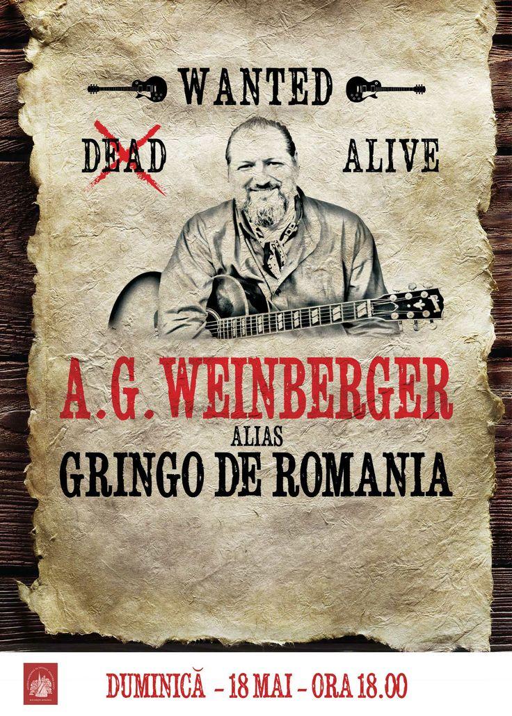 Gringo de Romania...jazz cu A.G. Weinberger, 18 mai, ora 16.00