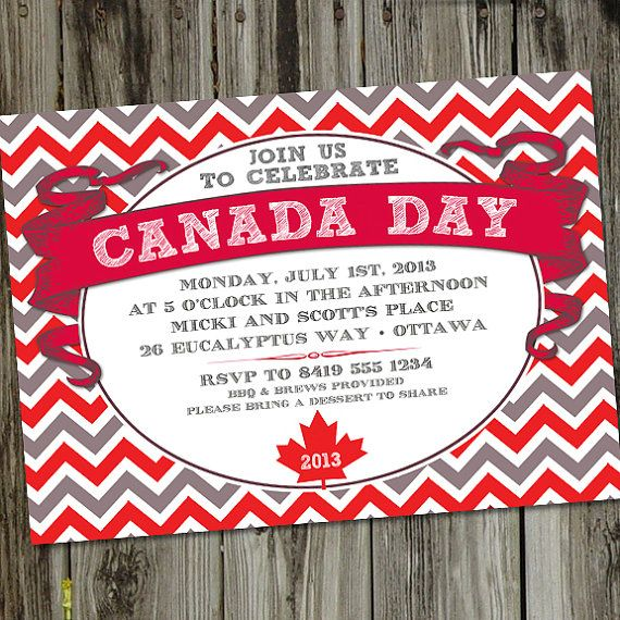 Canada Day PRINTABLE Party Invitation by partymonkey on Etsy, $15.00