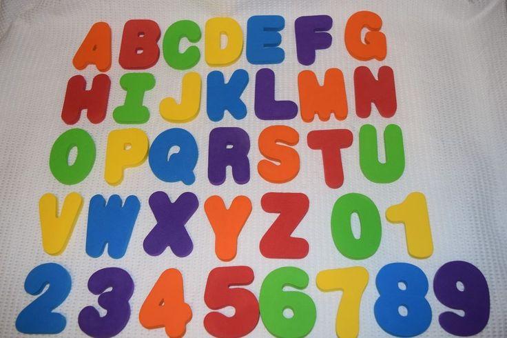 "BIG FOAM Alphabet 3"" Tall Letters & Numbers COMPLETE Preschool ..."