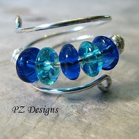 Handmade Jewelry: DIY: Simple Wire-Wrapped Ring Tutorials: PZ Designs