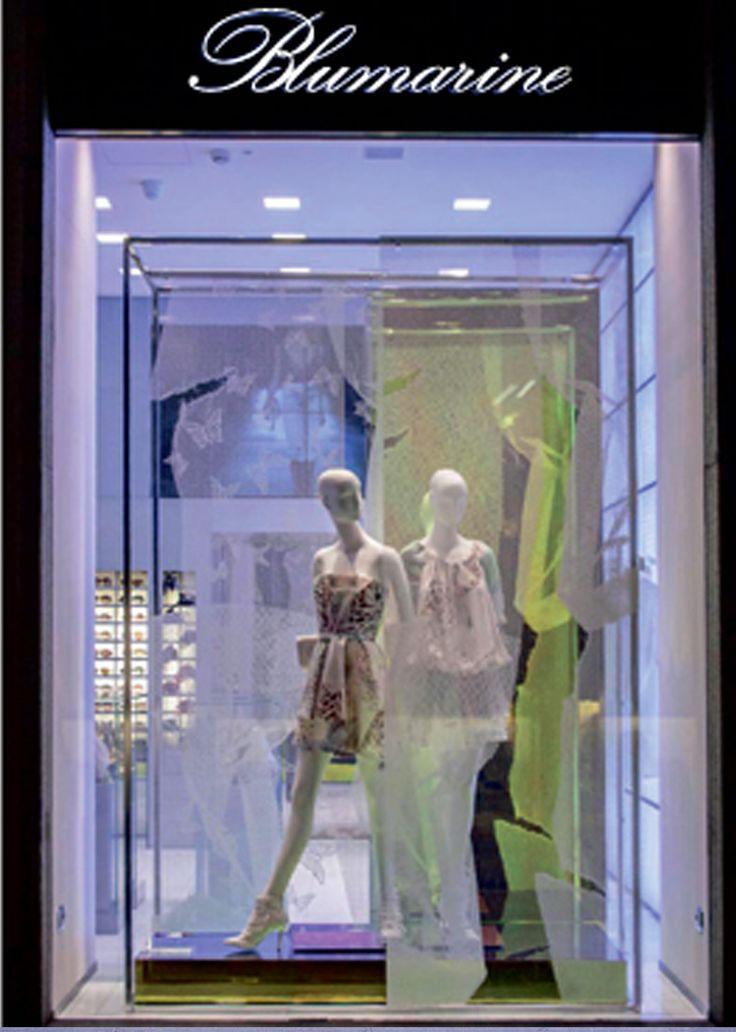 Blumarine Milan Boutique Windows - February 2014