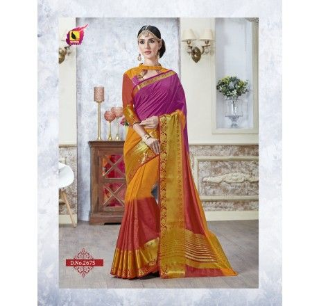 tusser silk saree