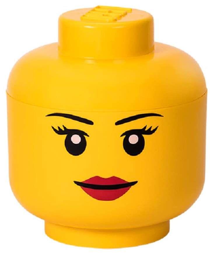 Lego Large Storage Head Girl Lego Storage Kids Lego Storage