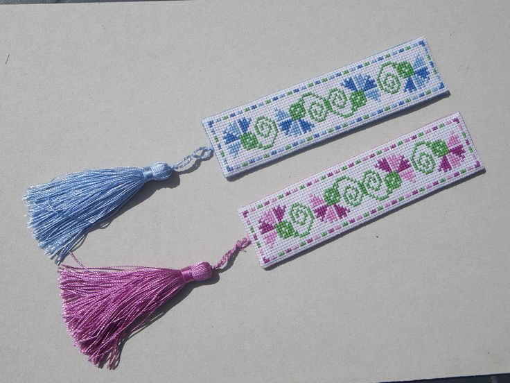 I've been making lots of bookmarks of late as gifts for friends using different methods. When I have time to stitch designs for both back and front, I do - and then assemble much the same way as I ...