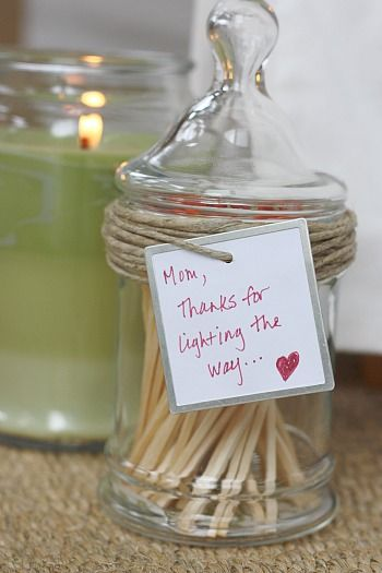 Good for parents, teachers, family members . . . if they have a fire place, camp, etc. Or, give with a set of candles.