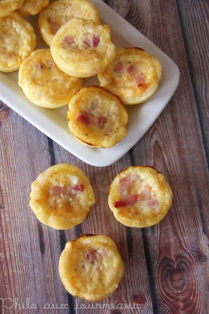 Idée mini apéro numéro 1: Mini quiches parmesan & lardons.