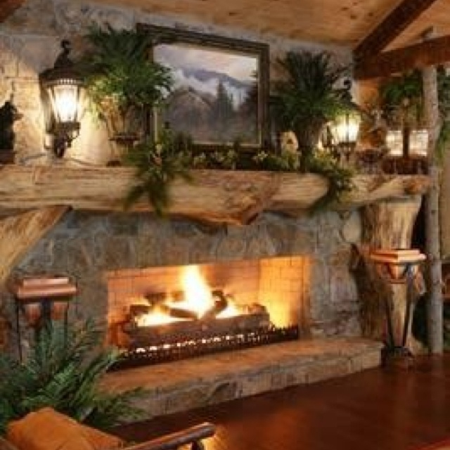 25 Cozy Ideas For Fireplace Mantels: 163 Best Images About Rustic Fireplace Designs On