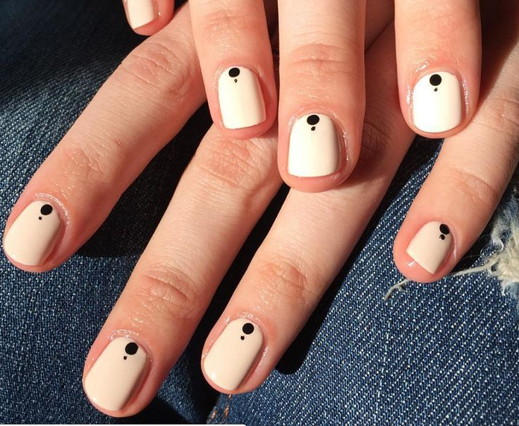 These talons will make an impact without much effort at all. Take a leaf out of nail artist Michelle Humphrey's book and keep your base neutral, so thatthe dots really pop.