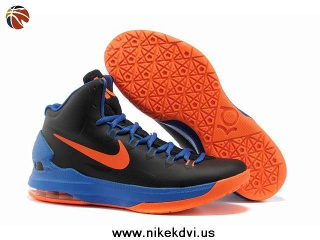 on sale 89605 5683d ... Buy Black Blue Orange Nike Zoom KD V 5 554988 048 For Sale ...