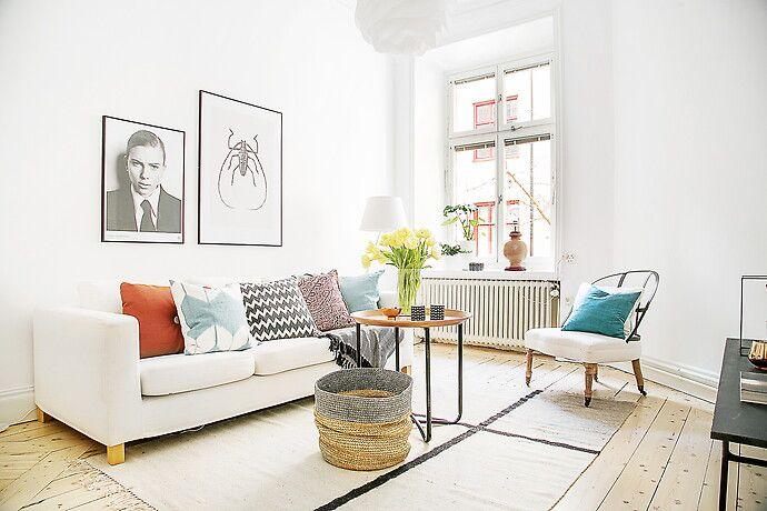 Bilder, Vardagsrum, Vit, Soffa, fotografiska, Modernt, Trägolv - Hemnet Inspiration